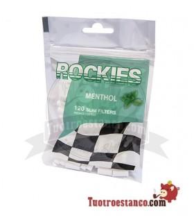 Filtros Rockies de sabor a Menta 6 mm 120 filtros