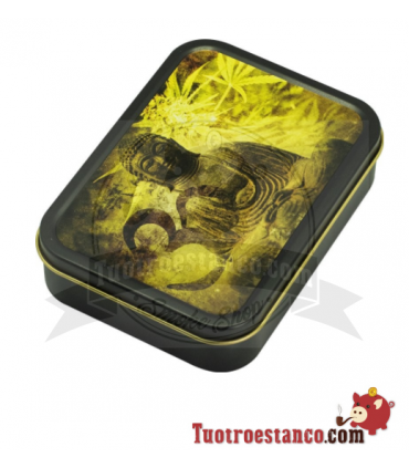 Caja metal Buddha 8 x 11 cm