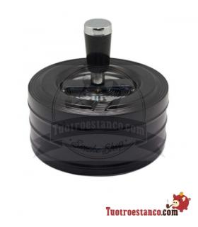 Cenicero Push negro 11 cm