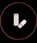 Smoking filters 6 mm